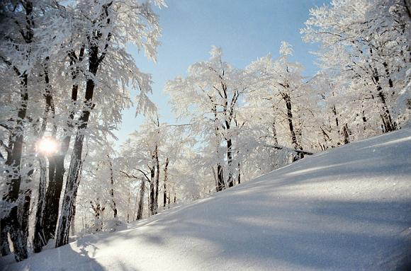 Zimná krajina v pohorí Rokoš